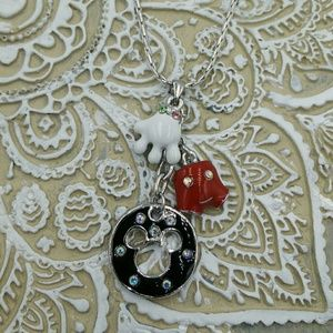 NEW MICKEY Deconstructed Necklace Enameled Charms!